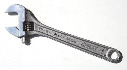 Irega 77-8 8-Inch Adjustable WrenchTriple-Chrome Finish