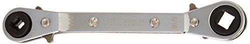 hilmor 1839043 Off Set Service Wrench  14 x 316 Square 38 x 516 Square