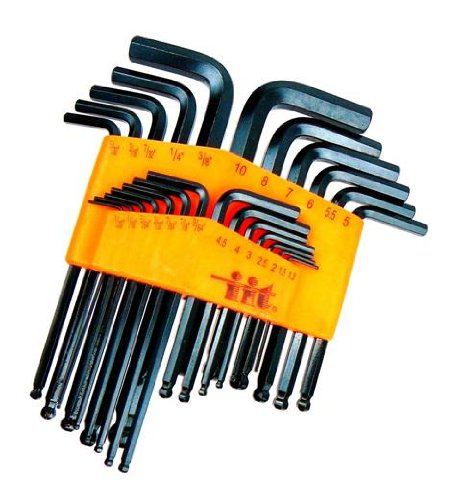 Ball End Hex Wrench Set - 25-Piece - SAE and Metric