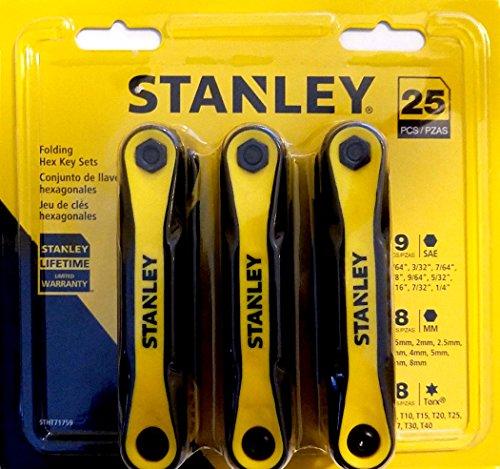 Stanley Tools Hex Set - allen wrench set 25 piece