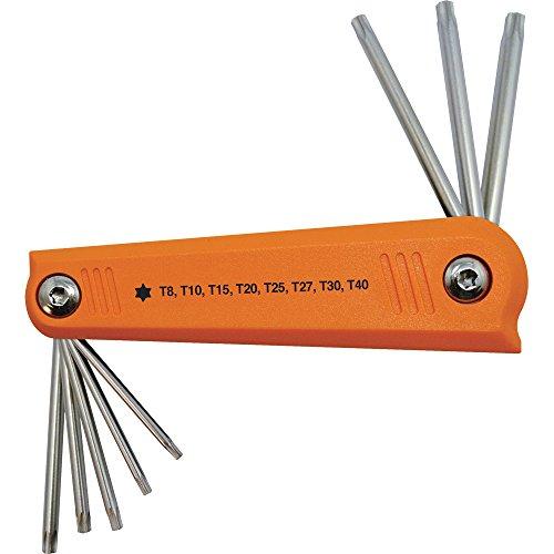 Dynamic Tools D043209 T8 to T40 Torx Folding Hex Key Set 8 Piece