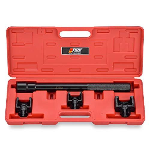 EWK 12 inch 3 Adapter Inner Tie Rod Removal Tool Kit for GM Ford Chrysler Steering