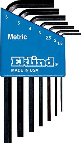 EKLIND 10507 Hex-L Key allen wrench - 7pc set Metric MM sizes 15-6 Short series