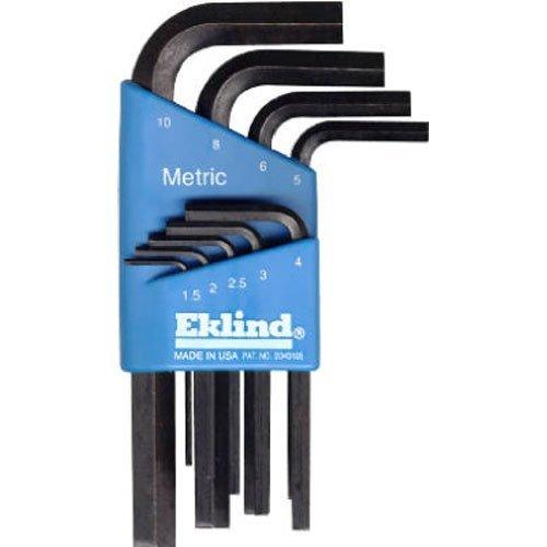EKLIND 10509 Hex-L Key allen wrench - 9pc set Metric MM sizes 15-10 Short series