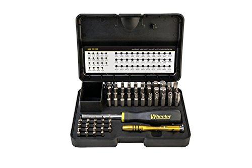 Wheeler 55 Piece SAEMetric Hex and Torx Screwdriver Set for Pistol Rifle Handgun Gunsmithing Rebuild and Maintenance