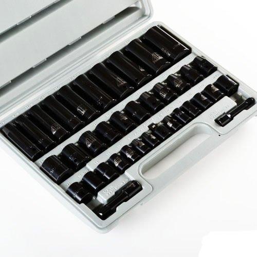 Generic NV_1008001499_YC-US2 Case 2 Combo Impact ombo 38 PCS 38 t Soc Socket Set High et Hi 12 Drive pact Impact Tools w Case 38 PCS