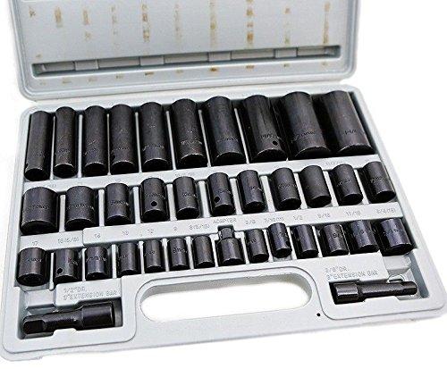 NEW 38 Pcs 38 12 drive Combo Impact Socket Set High Impact Tools CrV Auto Shop