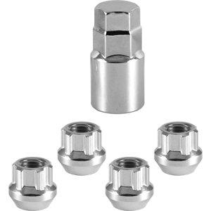4 12x15 Chrome Open Acorn Locking Lug NutsWheel Locks M12x15  Socket Key