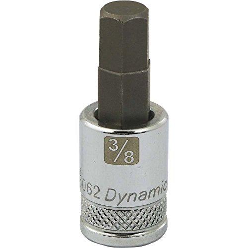 Dynamic Tools D006062 38 Drive SAE Hex Head Socket with 38 Bit Standard Length Chrome Finish