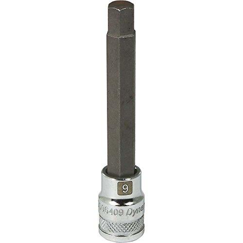 Dynamic Tools D006409 38 Drive Metric Hex Head Socket with 9mm Long Bit Chrome Finish