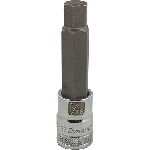 Dynamic Tools D013468 12 Drive SAE Hex Head Socket with 916 Long Bit Chrome Finish