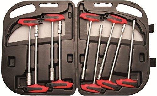 BGS T-Handle Socket Wrench Set - 024-055 - 9 Pieces by KFZ-Werkzeug Import
