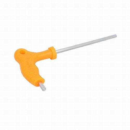 Ugtell 5mm Plastic T-Handle Socket Head Cap Screw Wrench Spanner Hex Key Tool