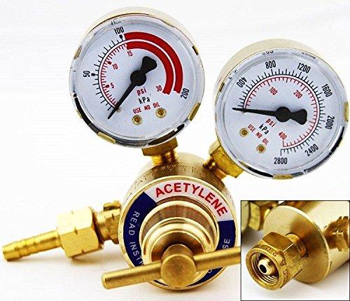 Acetylene Gas Regulator Welding Cutting Torch Pressure Gauge Fits Victor New