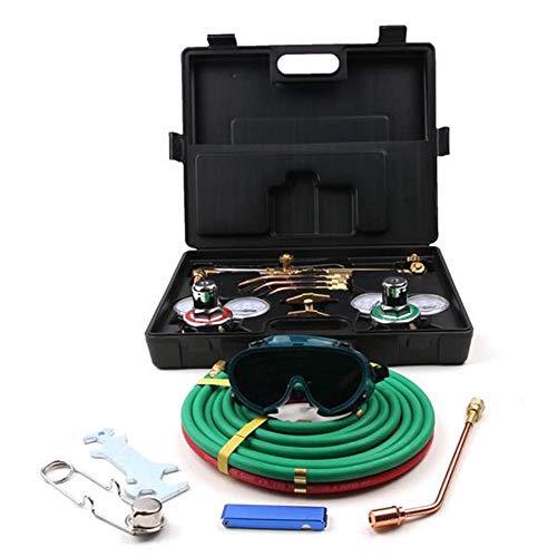 Guoz Portable Professional Welding Cutting Kit- Gas Welding Cutting Torch Kit Portable Oxy Acetylene Oxygen Brazing Professional Tool Set