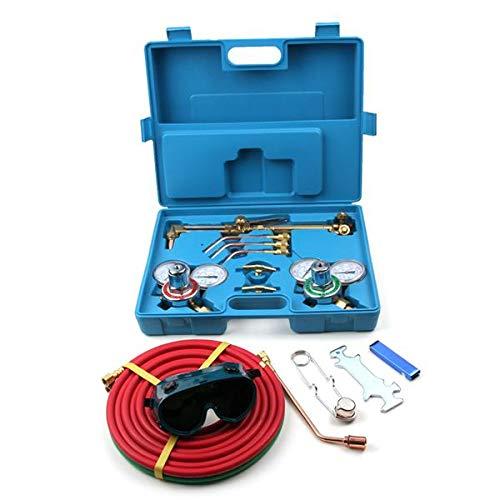 Guoz Portable Professional Welding Cutting Kit -Premium Oxy Acetylene Welding Cutting Torch Kit Oxygen Brazing Professional Set Carrying Case