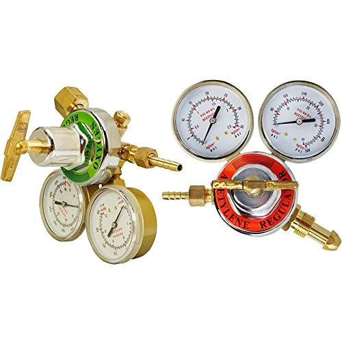 PROLINEMAX Solid Brass Oxygen Acetylene Regulator 4 Welding Fit Victor Gas Torch Cutting