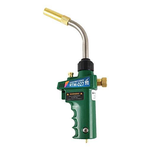 Professional Mapp Gas Welding Torch Swirl Flame Brazing Gun for Welding Plumbing Jewelry CGA600 Connection Burner Heater Blowtorch for BBQ HVAC Plumbing Tywel-RTM-027
