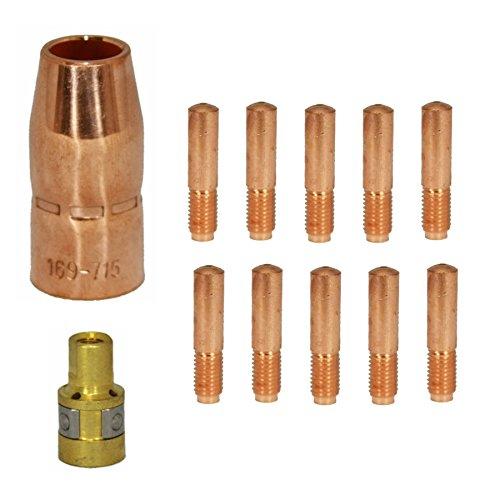 Kit 12pk compatible Hobart 770404 770174 770402 023 for M1015 Miller Mig Torch 169716 087299 169715