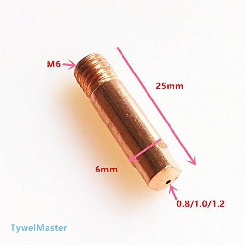 Welding Torch Contact Tip for 15AK24KD36KD MIGMAG Welding Gun of Welding Machine 15AKTip_20pcs-12mm0045