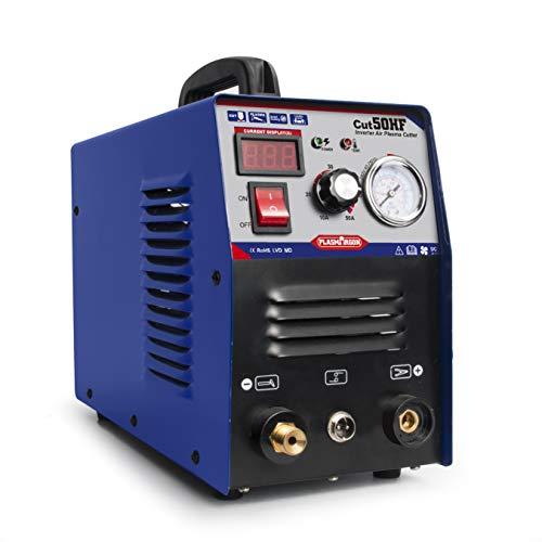 Air Inverter Plasma Cutting Machine - Tosense CUT50 Dual Voltage 50A Plasma Cutter 12 Inch Clean Cut 110220V