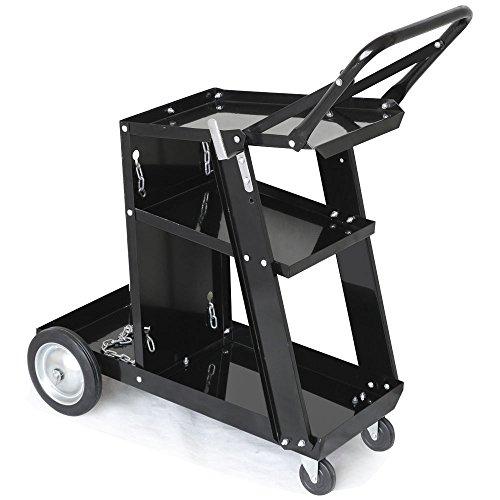 Henf 3-Tier Welding Cart Tig MIG Welder Plasma Cutter Cart with Universal Tank Storage Professional Welding Cart Plasma Cutting Machine 175lbs Capacity