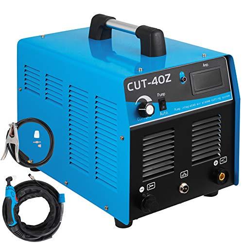 Mophorn 40 Amp Plasma Cutter with Built-In Air Compressor 220V Portable Plasma Welder Plasma Cutting Machine IGBT Inverter Digital Plasma Welding Machine40 Amp with Air Compressor