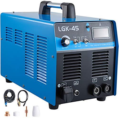 Mophorn 45 Amp Plasma Cutter with Built-In Air Compressor 220V Portable Plasma Welder Plasma Cutting Machine IGBT Inverter Digital Plasma Welding Machine45 Amp with Air Compressor