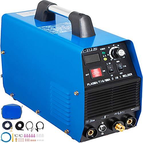 Mophorn TIGMMA Plasma Cutter CT312 3 in 1 Combo Welding Machine Tig Welder 120A Arc Welder 120A Plasma Cutter 30A Plasma Cutting Machine Dual Voltage 110 220V
