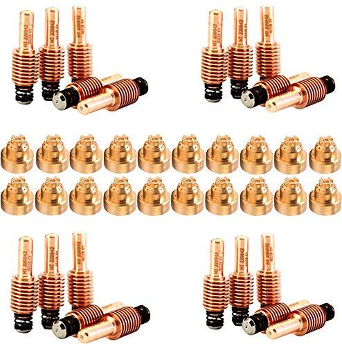 Jack&Dave 20PCS 220842 Plasma Electrodes 20PCS 220818 Plasma Tips Fit Hypertherm Powermax 456585105