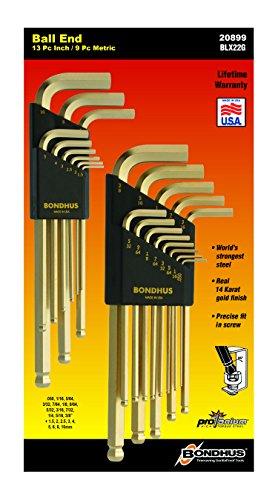 BONDHUS 20899 DOUBLE PACK GOLD GUARD FRACTIONALMETRIC WRENCH