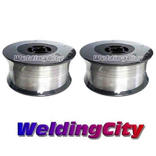 WeldingCity 2 Rolls of ER308L Stainless Steel MIG Welding Wire 2-Lb Spool 0023 06mm