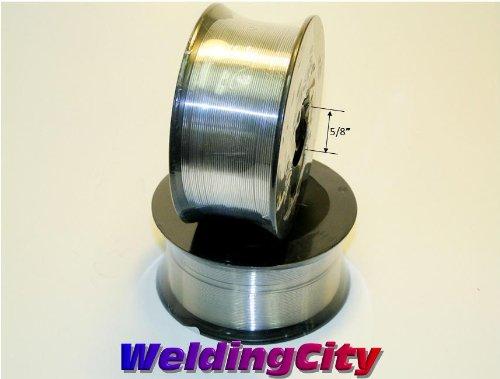 WeldingCity 2 Rolls of ER308L Stainless Steel MIG Welding Wire 2-Lb Spool 0035 09mm