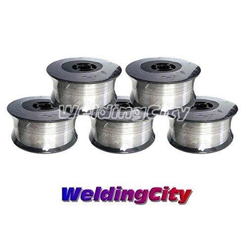 WeldingCity 5 Rolls of ER308L Stainless Steel MIG Welding Wire 2-Lb Spool 0023 06mm