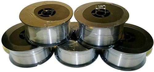 WeldingCity 5 Rolls of ER308L Stainless Steel MIG Welding Wire 2-Lb Spool 0035 09mm