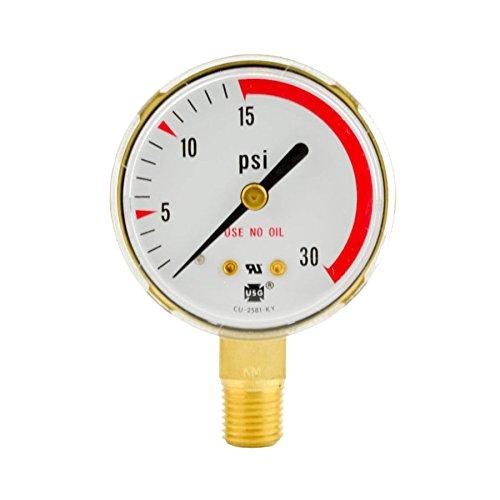 2-12 x 30 PSI Welding Regulator Repair Replacement Gauge For Acetylene 25 in