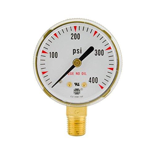 2-12 x 400 PSI Welding Regulator Repair Replacement Gauge For Acetylene 25 in