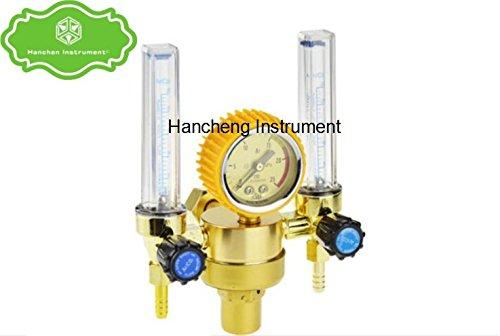 Hanchen Instrument YQAR-731L Double Meters Argon Regulator Welding Regulator Argon Gas Reduced Pressure Meter 25Mpa
