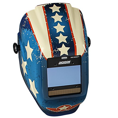 Jackson Safety 46101 Insight Variable Auto Darkening Welding Helmet  HaloX  ADF Stars Scars Graphic