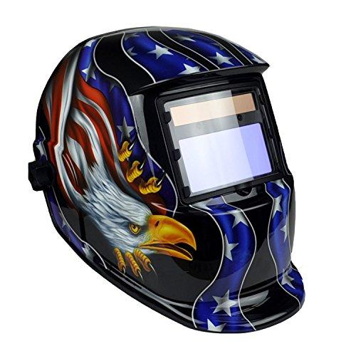 Instapark ADF Series GX-800S Solar Powered Auto Darkening Weld Grind Selectable Welding Helmet with Adjustable Shade Range 9-13