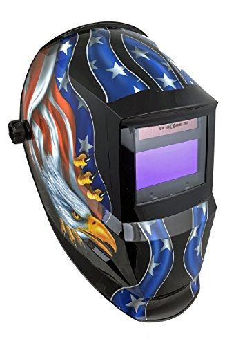 Instapark ADF Series GX600 Solar Powered Auto Darkening Welding Helmet with Adjustable Shade Range 5 - 13