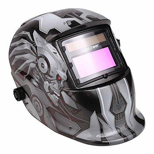 Professional Solar Powered Adjustable Auto-Darkening Welding Helmet Working Temperature 23℉~131℉