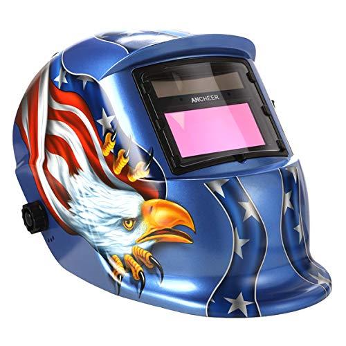 Welding Helmet Solar Powered Welding Hood Arc Tig Mig Auto-Darkening Welding HelmetHood with Adjustable Shade Mask