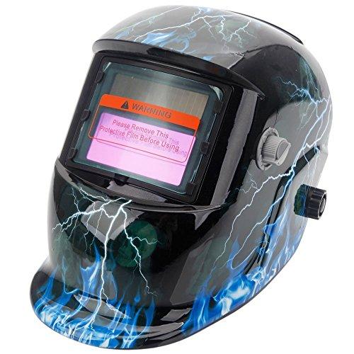 Z ZTDM Welding Helmet Pro Solar Auto Darkening Lightning Skull Mask Hood Adjustable Shade Range 49-13 WeldGrinding Welder Protective Gear Arc Mig Tig CE EN379 ANSI Z871
