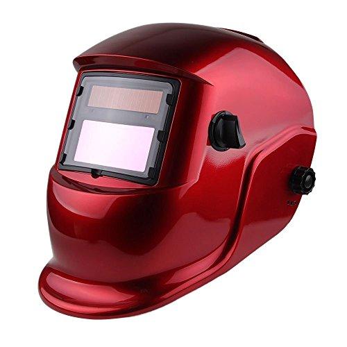 Z ZTDM Welding Helmet Pro Solar Auto Darkening Transparent Red Hood Adjustable Shade Range 49-13 WeldGrinding Welder Protective Gear Arc Mig Tig CE EN379 ANSI Z871