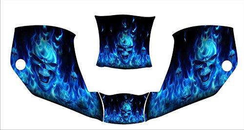 miller digital infinity infiniti 271329 welding helmet hood jig decal sticker blue skull