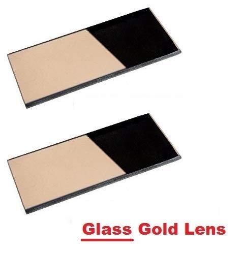 2 EACH Shade 10 Glass GOLD 2 x 425 Welding Hood Lens Helmet Filter 2 x 4-14 Replacement