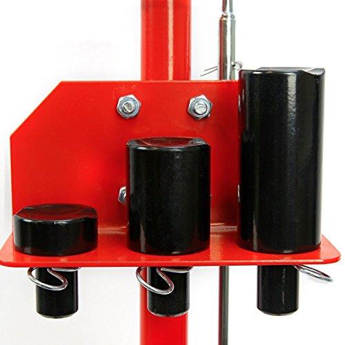 GHP 35-Ton 10-18 Lift 45 Cylinder Stroke Hydraulic Floor Jack w Rubber Wheels