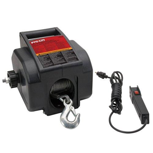 Pro-Lift I-9620 Grey Portable Electrical Winch - 2000 lb Capacity