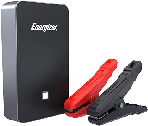 Energizer Heavy Duty Jump Starter 11100mAh with Built-in UL Lithium Battery - Portable Car Jumper and 24A Power Bank USB Charger 11100mAh Black